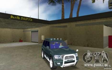 Toyota Land Cruiser 100 pour GTA Vice City vue arrière