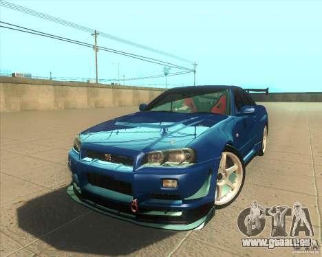 Nissan Skyline GT-R R34 M-Spec Nur pour GTA San Andreas