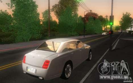 Bentley Continental Flying Spur für GTA San Andreas zurück linke Ansicht