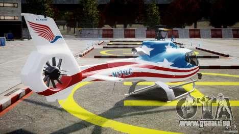 Eurocopter EC 130 B4 USA Theme für GTA 4 Seitenansicht