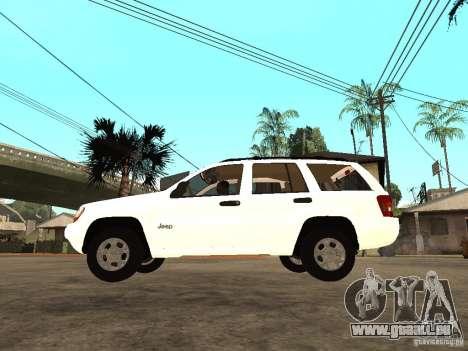 Jeep Grand Cherokee 99 pour GTA San Andreas laissé vue