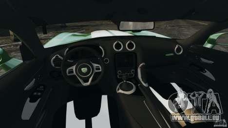 SRT Viper GTS 2013 für GTA 4 Rückansicht