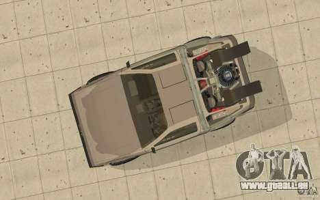 DeLorean DMC-12 (BTTF1) pour GTA San Andreas vue de droite