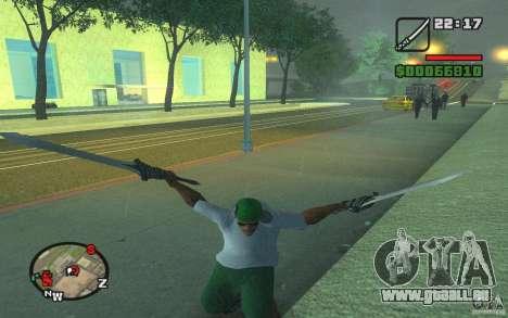 Épée de Dante de DMC 3 pour GTA San Andreas deuxième écran