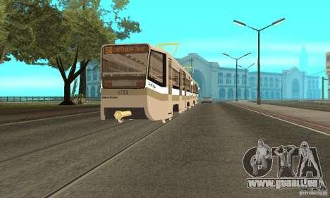 Tramway CT 71-619 (KTM-19) pour GTA San Andreas laissé vue