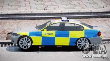 BMW 350i Indonesian Police Car [ELS] pour GTA 4 est une vue de l'intérieur