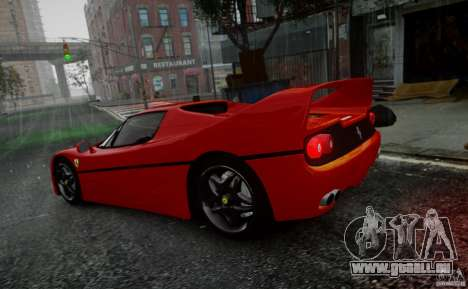 Ferrari F50 1995 pour GTA 4 est une vue de l'intérieur