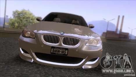 BMW M5 2009 pour GTA San Andreas vue de dessus