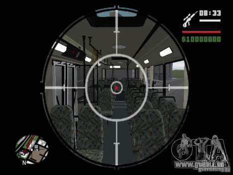 Ikarus 415.02 pour GTA San Andreas vue de dessus