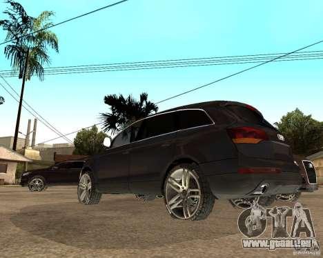 Audi Q7 4.2 FSI für GTA San Andreas zurück linke Ansicht
