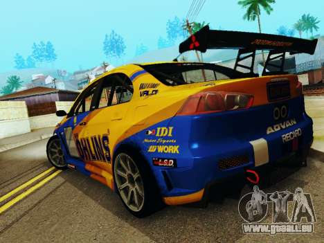 Mitsubishi Lancer Evolution für GTA San Andreas linke Ansicht