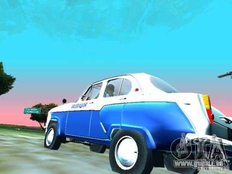 Moskvitsch 403 mit der Polizei für GTA San Andreas Rückansicht