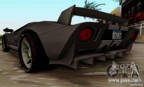 Ford GT Tuning pour GTA San Andreas sur la vue arrière gauche