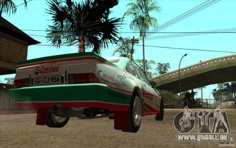Opel Manta 400 pour GTA San Andreas laissé vue