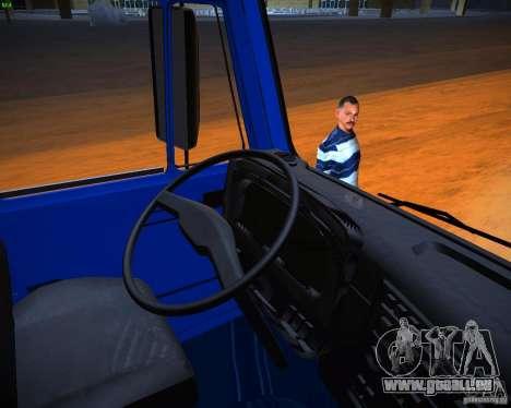 KAMAZ 65117 Grain pour GTA San Andreas vue arrière