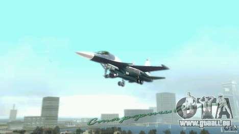 Vice City Air Force pour GTA Vice City sur la vue arrière gauche