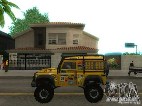 Land Rover Defender Off-Road für GTA San Andreas linke Ansicht
