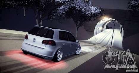 Volkswagen Golf VI 2010 Stance Nation pour GTA San Andreas vue de dessous