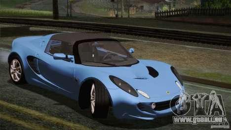 Lotus Elise 111s 2005 v1.0 für GTA San Andreas Unteransicht