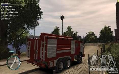 KAMAZ Feuerwehrmann für GTA 4 hinten links Ansicht