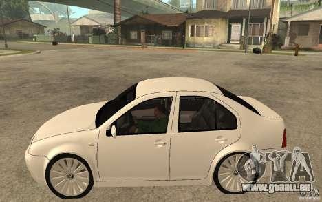 Volkswagen Bora PepeUz Edition pour GTA San Andreas laissé vue