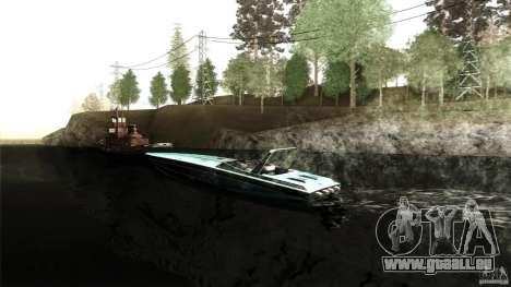 Wellcraft 38 Scarab KV für GTA San Andreas linke Ansicht