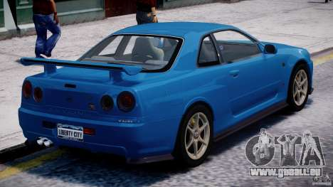 Nissan Skyline GT-R 34 V-Spec pour GTA 4 Salon