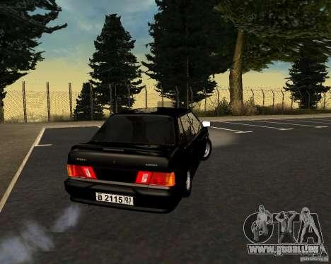 TJK VAZ 2115 pour GTA San Andreas sur la vue arrière gauche