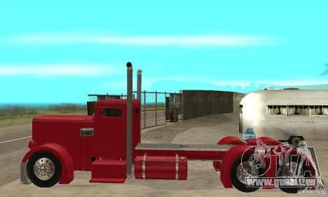 Peterbilt Coupe pour GTA San Andreas sur la vue arrière gauche