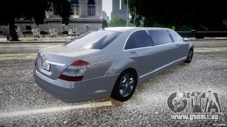 Mercedes-Benz S600 Guard Pullman 2008 für GTA 4 linke Ansicht