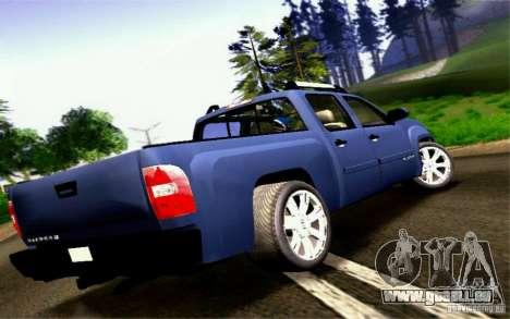 GMC Sierra 2011 pour GTA San Andreas laissé vue