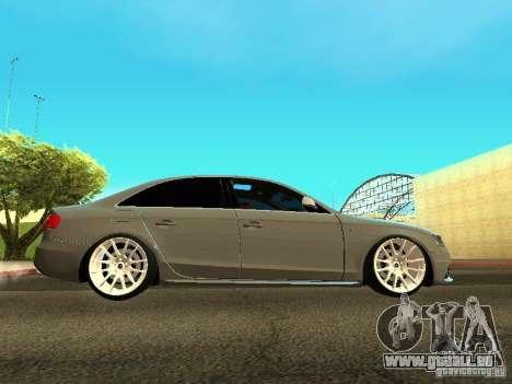 Audi S4 2010 pour GTA San Andreas laissé vue