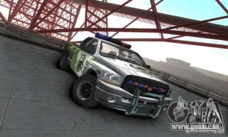 Dodge Ram 1500 POLICE 2008 pour GTA San Andreas sur la vue arrière gauche