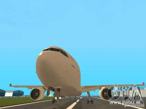 Airbus A330-300 Turkish Airlines pour GTA San Andreas vue arrière
