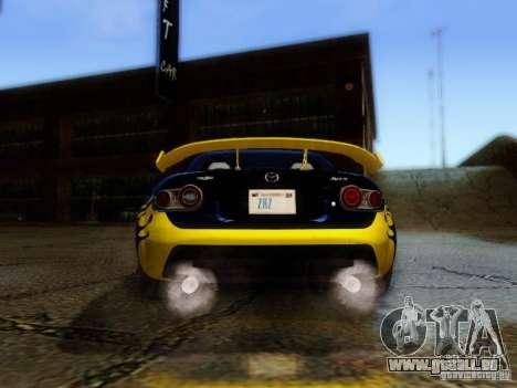 Mazda MX-5 2007 pour GTA San Andreas vue intérieure
