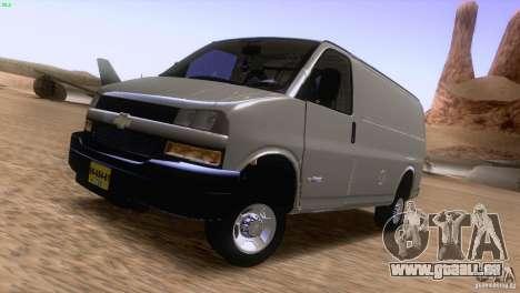 Chevrolet Savana 3500 Cargo Van für GTA San Andreas linke Ansicht