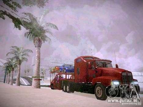 Auto transporteur Trailer pour GTA San Andreas vue arrière