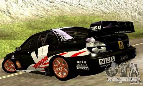 Subaru Impreza WRC 2007 für GTA San Andreas Seitenansicht