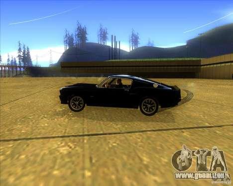 Shelby GT500 Eleanora clone pour GTA San Andreas laissé vue