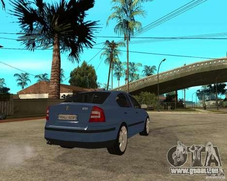 Skoda Octavia II. 2005 pour GTA San Andreas sur la vue arrière gauche