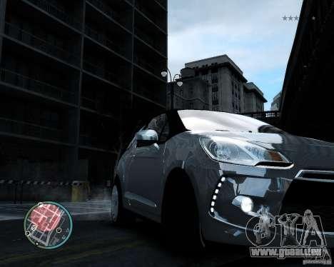 Citroen DS3 2011 pour GTA 4 est une vue de l'intérieur