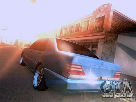 Mercedes-Benz S-Class W140 pour GTA San Andreas vue arrière