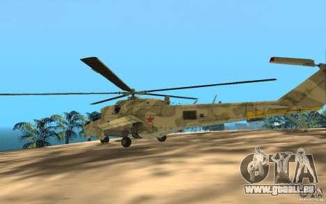 MI 24 pour GTA San Andreas vue arrière