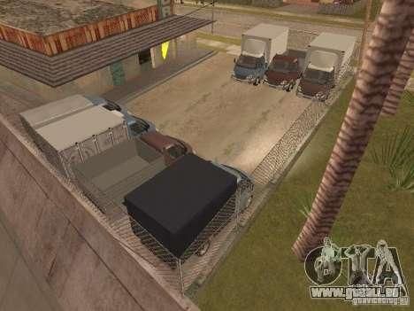 GAZ-3310 Valdaï pour GTA San Andreas vue intérieure
