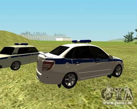 VAZ 2190 Police pour GTA San Andreas sur la vue arrière gauche