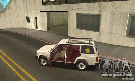 Jeep Grand Cherokee 1986 pour GTA San Andreas vue de dessous