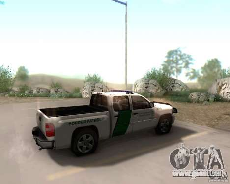 Chevrolet Silverado Police pour GTA San Andreas sur la vue arrière gauche