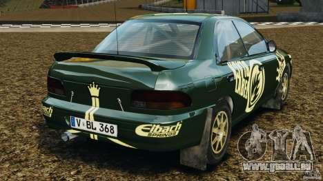 Subaru Impreza WRX STI 1995 Rally version pour GTA 4 Vue arrière de la gauche