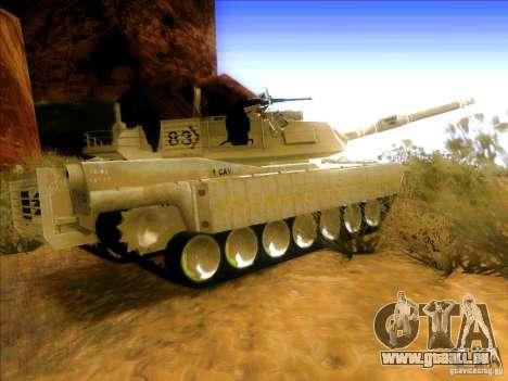 M1A2 Abrams de Battlefield 3 pour GTA San Andreas sur la vue arrière gauche