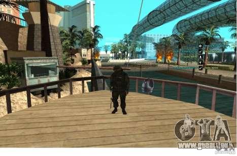 Les Forces spéciales Berkrut pour GTA San Andreas troisième écran